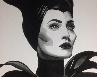Maleficent painting print