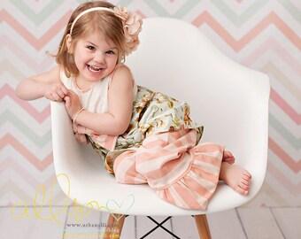 Chevron Photography Backdrop, Newborn Photography Backdrop, Vinyl Photography Backdrop, Baby Photography Backdrop for Spring - SPG120