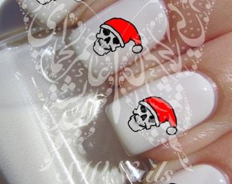 Christmas Nail Art Skull Nail Water Decals