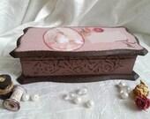 Personalised Memory Vintage box Jewelry box  Vintage box Decorative boxes   Address box  Box home decoration  Art box  Handmade