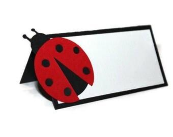 Ladybug tent cards, ladybug tent cards, ladybug birthday, ladybug buffet cards - 9