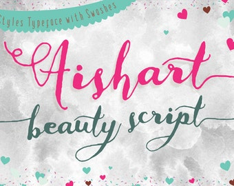 Aishart Font, Modern Calligraphy Font with Swashes