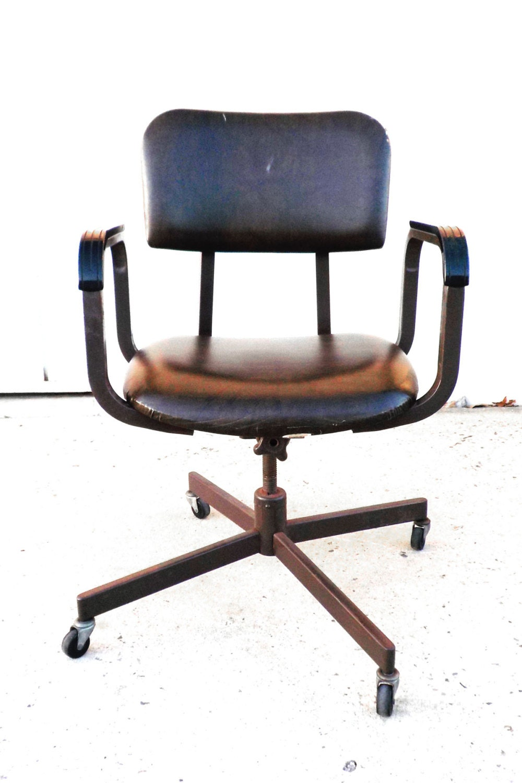 Mid Century Modern Vintage Minimalist Office Chair Haute Juice