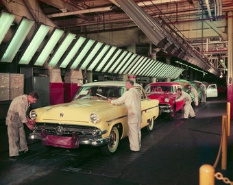 1954 Red  Border Kodachrome slide assembly line