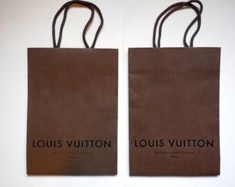 "Set of 2 LV - Louis Vuitton Shopping Bags (12.75"" x 14.75"")"