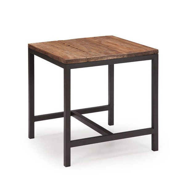 Simple Wooden Side Tables ~ Simple steel and wood side table