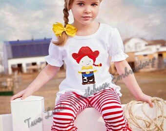Cowgirl Jessie Inspired- Toy Story- Birthday Shirt-Embroidered Shirt-Cowgirl Birthday-Personalized Shirt-Girls-Disney Vacation