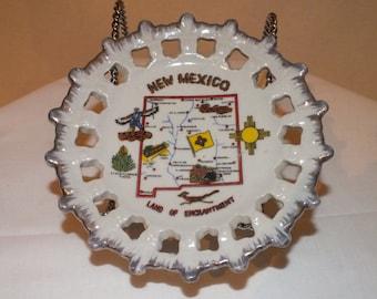 Vintage New Mexico Souvenir Plate