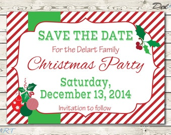 Christmas Party Save the Date or In vite, Company Dinner / Party ...