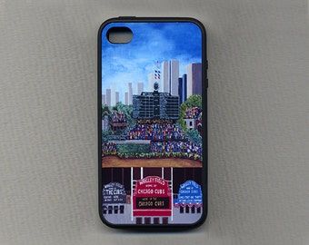 Cell Phone Case, Chicago Baseball - Wrigley Field-Sports Team Stadiums - phone cases, cases for iPhones 4/4s, 5/5s, 6 & 6+,7,SamsungS4,S5,S6