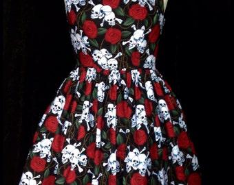 Skull /rose dress .