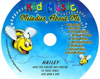 Kids Personalized Music CD Melodies About Me