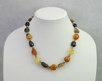 Handmade Agate Gemstone Necklace