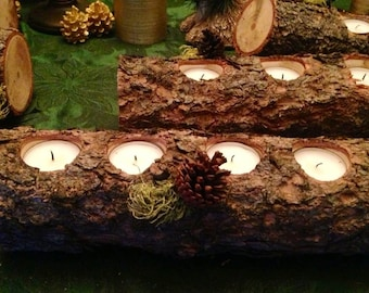 """SALE! Yule Log Candle Holders (over 12"""")"""