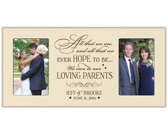 Wedding Gift For Parents Etsy : Parent wedding gift, Parent thank y ou Gift, Parent wedding gift frame ...