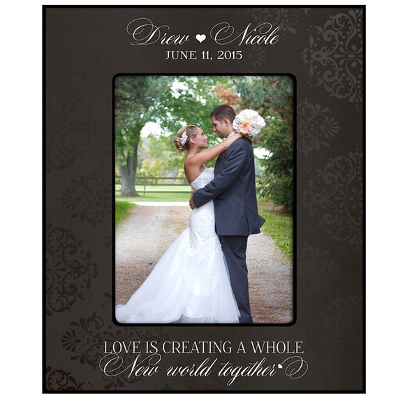 wedding gift,wedding frame for bride and groom gift,Personalized ...