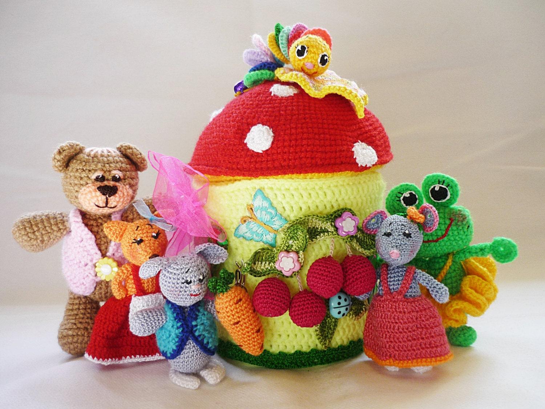 Amigurumi Stuffed Animals : AMIGURUMI animals miniature stuffed animals by ...