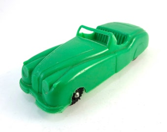 Vintage Green Jaguar XK120 Roadster 1950s Car Plastic Toy Made In U.S.A. XK 120 Convertible Matchbox