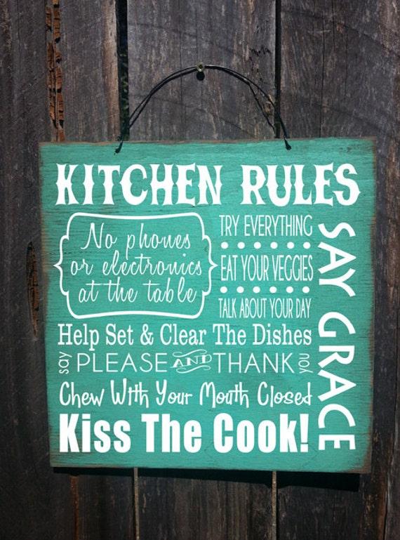 Kitchen Decor Signs Etsy