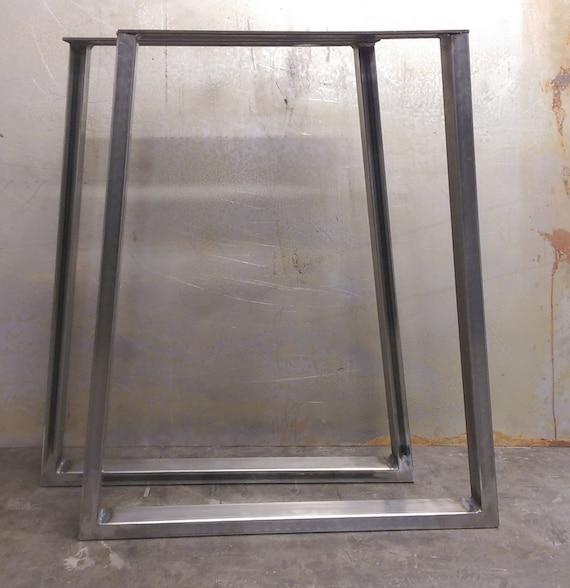 Trapezoid Steel Table Legs 2x1