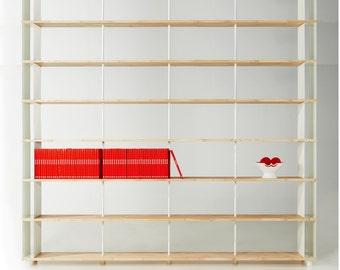 items similar to modular osb black stain bookcase tansu. Black Bedroom Furniture Sets. Home Design Ideas