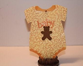 Handmade Die Cut Baby Cards