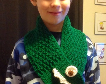 Crocheted Chompers Scarf
