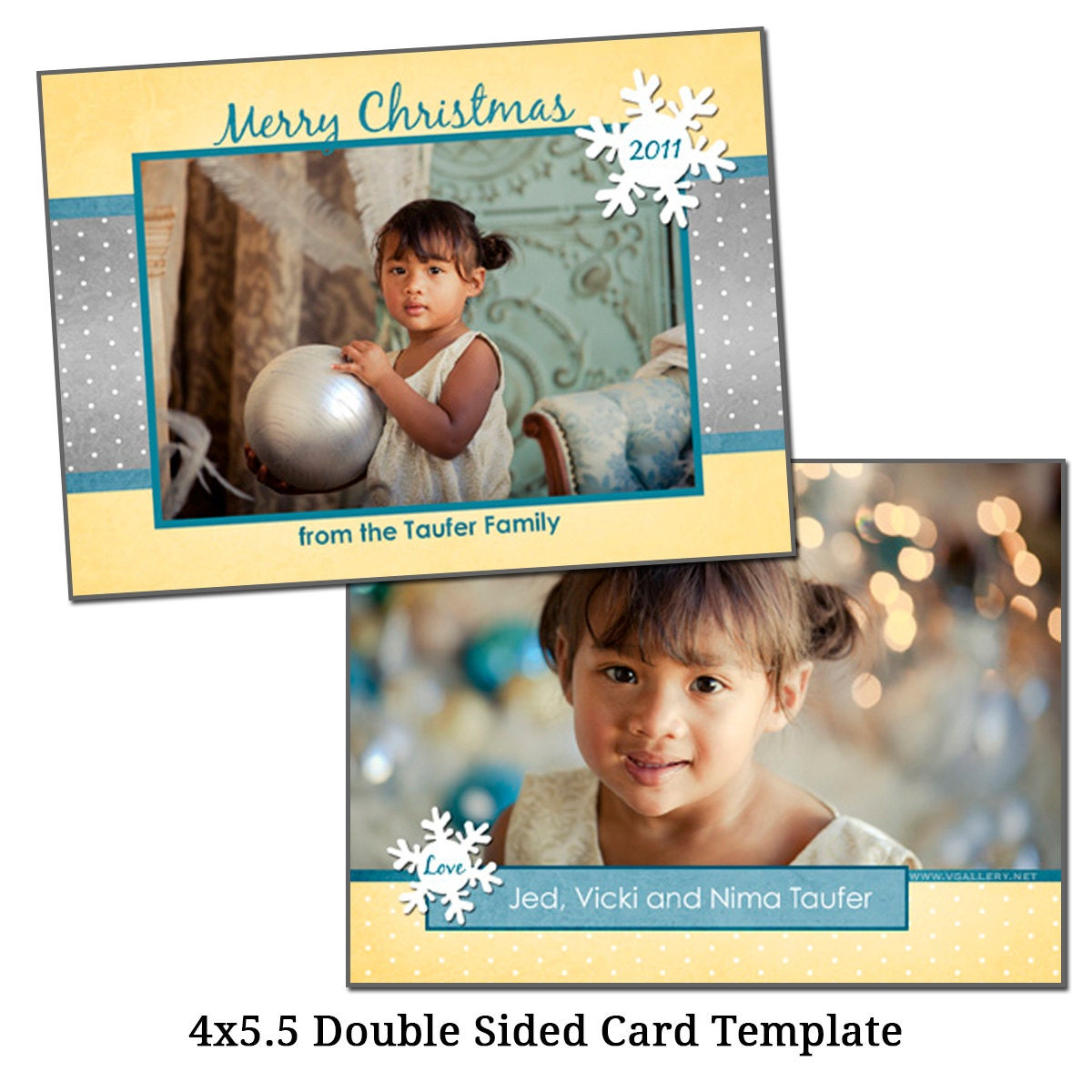 4x5 5 double sided christmas card template by vgallerydesigns. Black Bedroom Furniture Sets. Home Design Ideas