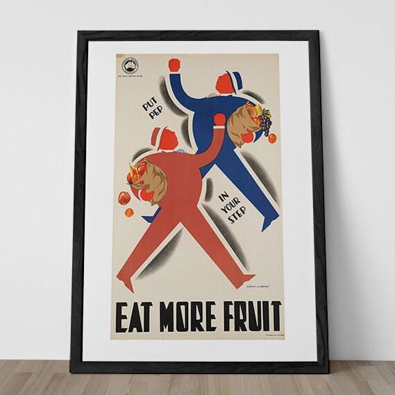 RETRO KITCHEN POSTER Vintage Art Deco Poster By