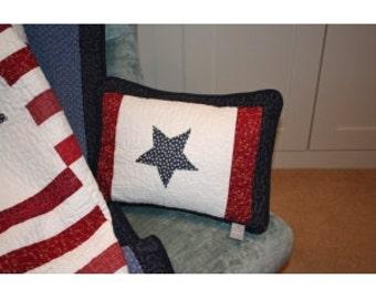 Marine Applique Star Feather Cushion
