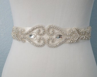 Wedding Belt, Bridal Belt, Bridal Sash Belt, Crystal Rhinestone Belt, Style 165
