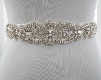 Wedding Belt, Bridal Belt, Sash Belt, Crystal Rhinestone Belt, Style 130