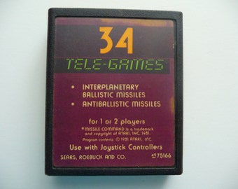 Vintage 1980's Missile Command For Atari 2600