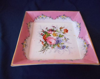 Beautiful antique French porcelain hand painted dish