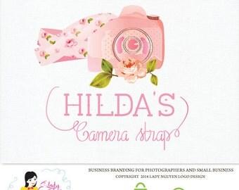 Premade Custom Camera Strap Boutique Watercolor Logo Design – LD016