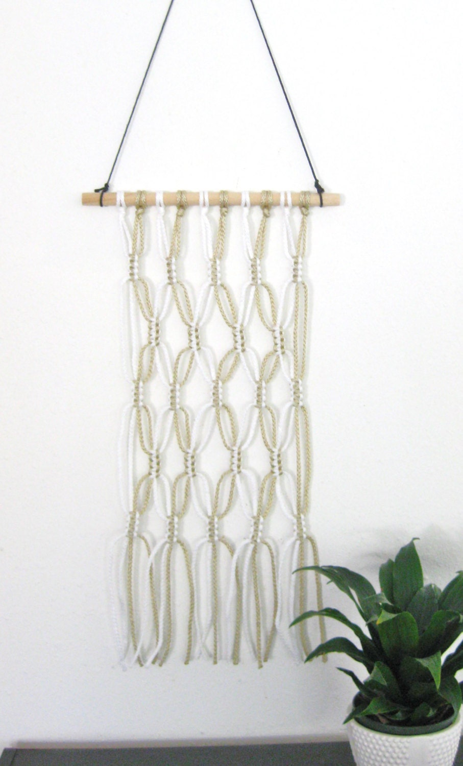 Macrame wall hanging minimalist decor wall art home for Minimalist wall art