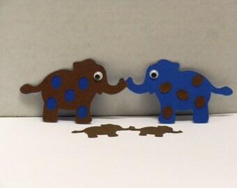 10  Baby Elephants -Scrapbooking, Die Cuts, Embellishments, Craft Supplies-DCE-33