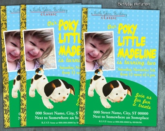 Little Golden Book Inspired Invitation - Poky Puppy