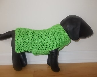 New Super Soft Bright Green Dog Turtleneck Sweater/Clothing Yorkie Chihuahua Terrier Small S Crochet