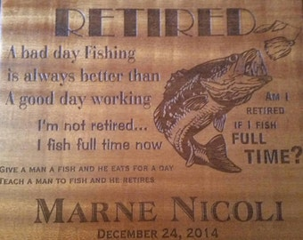 RETIREMENT Engraved Cutting Boards -