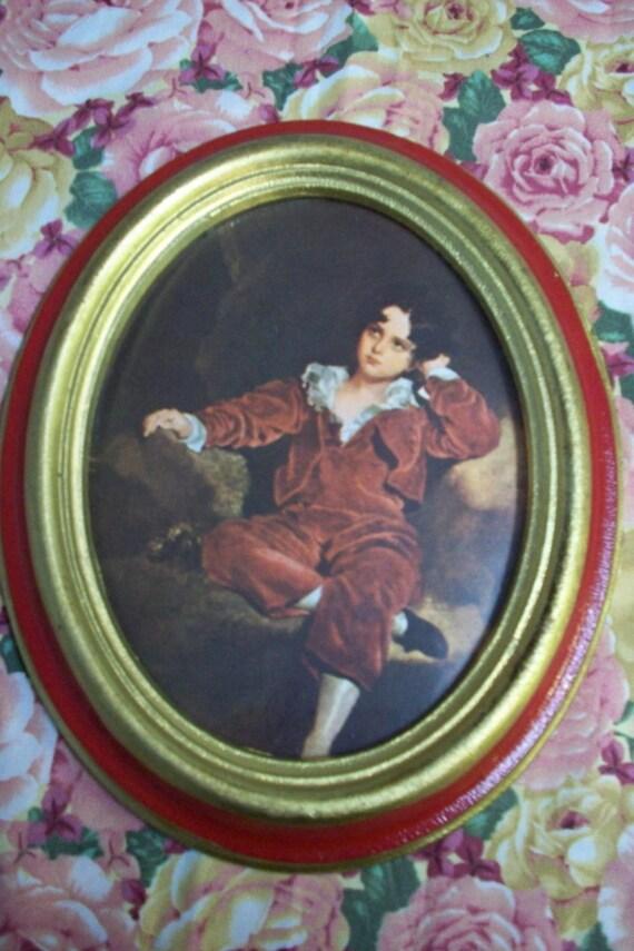 Norleans Italian Framed Art Vintage Norleans Oval Framed Art