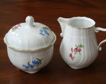 Schirnding Bavaria 140 Made in W Germany Dainty Porcelain Creamer and Sugar!