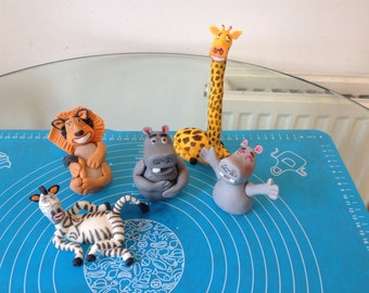 Madagascar edible cake toppers made from gum paste