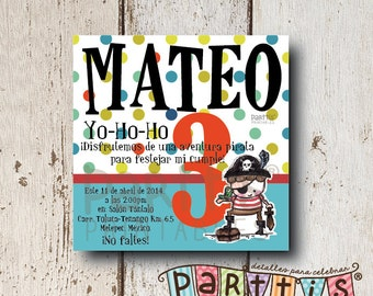 Pirate Party Printable Invitation
