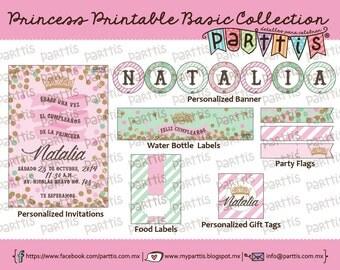 Princess Party Printable Collection BASIC kit