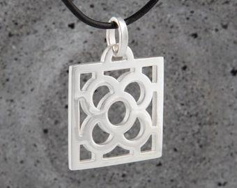 Art Noveau Barcelona Flower Necklace