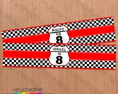 Race Car Birthday Party Water Bottle Labels - Race Car Party - Race Car Party Decorations - Digital PDF Download