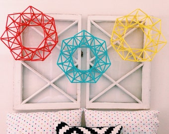 Wreath, Modern Wreath, Geometric Wreath, Himmeli Inspired Wreath, Anytime Wreath, Front Door Wreath, Modern Decor
