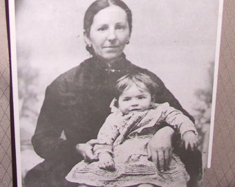 Vintage Photograph/ Mother and Child