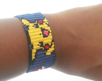 Pikachu Pokemon friendship bracelet.